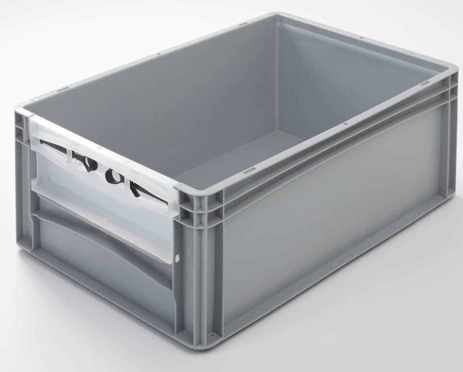 Euronormbehälter mit Riegelklappe 600 x 400 x 220 mm