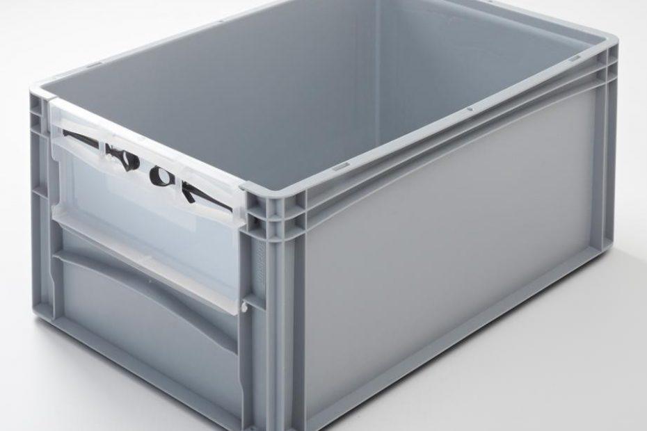 Eurobehälter mit Riegelklappe 600 x 400 x 270 mm