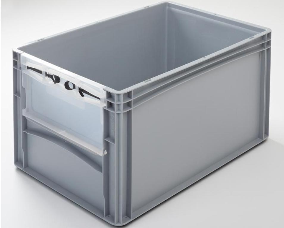 Eurobehälter mit Riegelklappe 600 x 400 x 320 mm