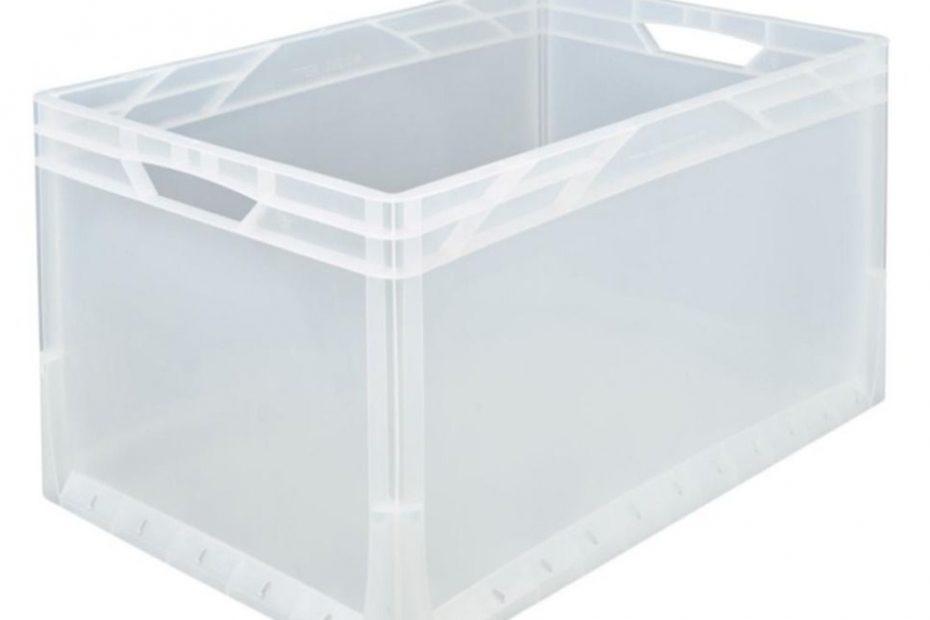 Transparente Eurobox 600 x 400 x 320 mm
