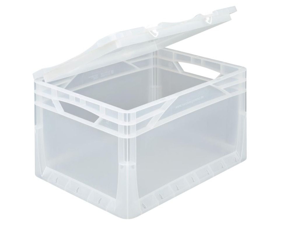 Transparenter Deckel mit Scharnier für Eurobox 400 x 300 mm